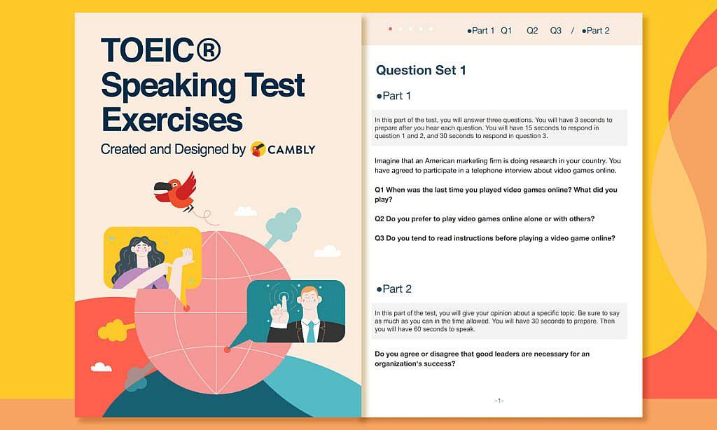 TOEIC Speaking Test Exercise