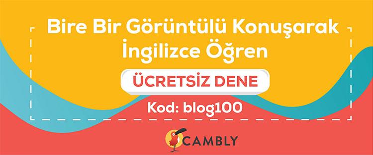 Cambly ile Bire Bir Görüntülü Konuşarak İngilizce Öğren Kod: blog100 ile Ücretsiz Dene