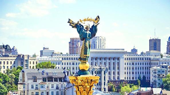 Bağımsızlık Meydanı (Maidan Nezalezhnosti) ve Kreşatik Caddesi (Khreshchatyk Street)