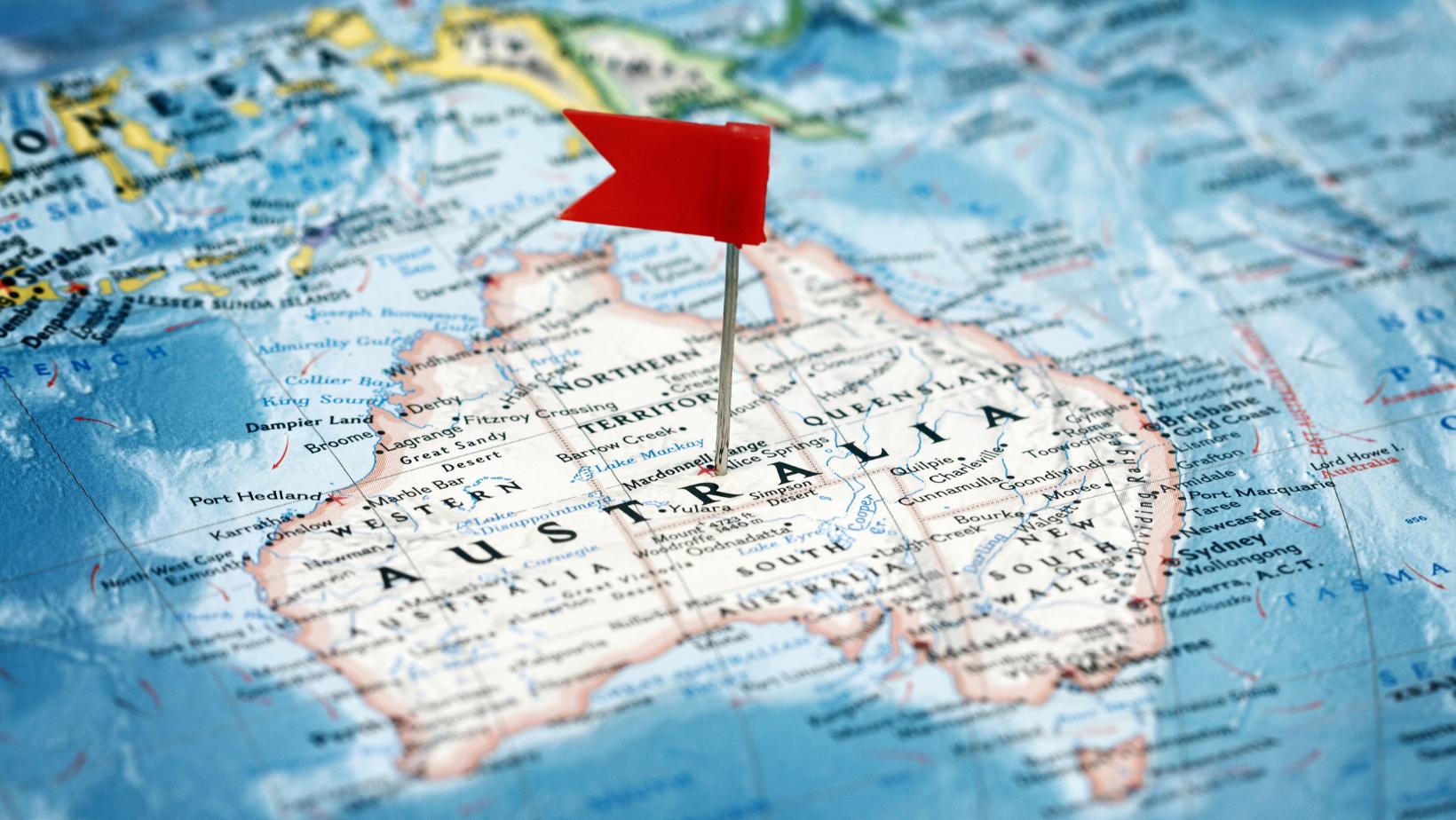 Avustralya haritası