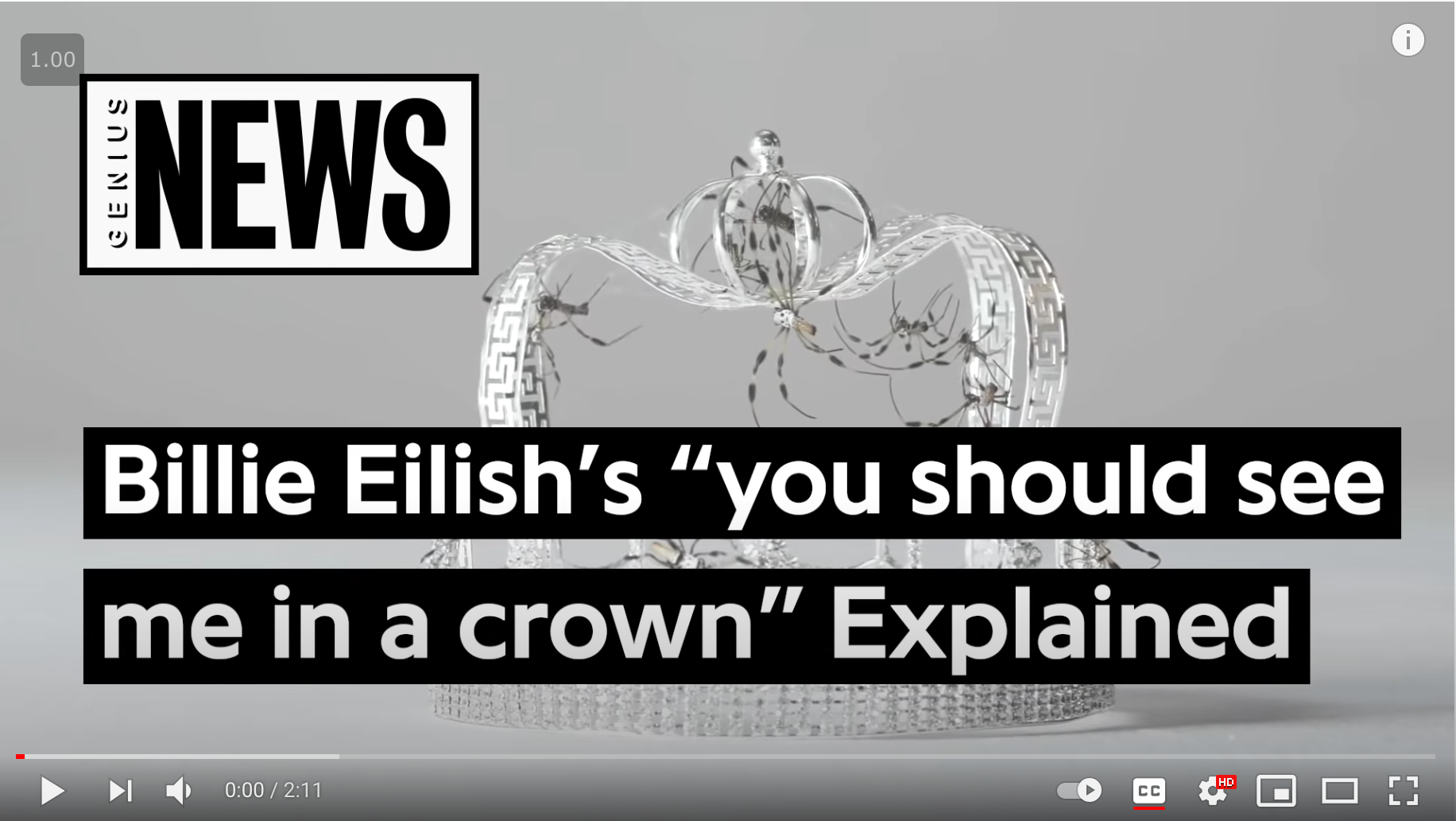 """Billie Eilish's """"you should see me in a crown"""" Explained"""