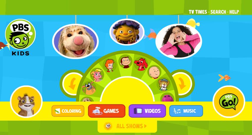 PBS Kids Games İnternet Sayfası