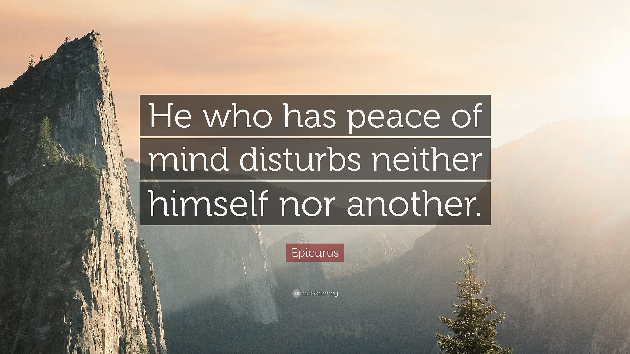 'He who has peace of mind disturbs neither himself nor another.'