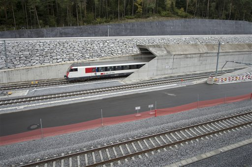 Switzerland Railway Tunnel